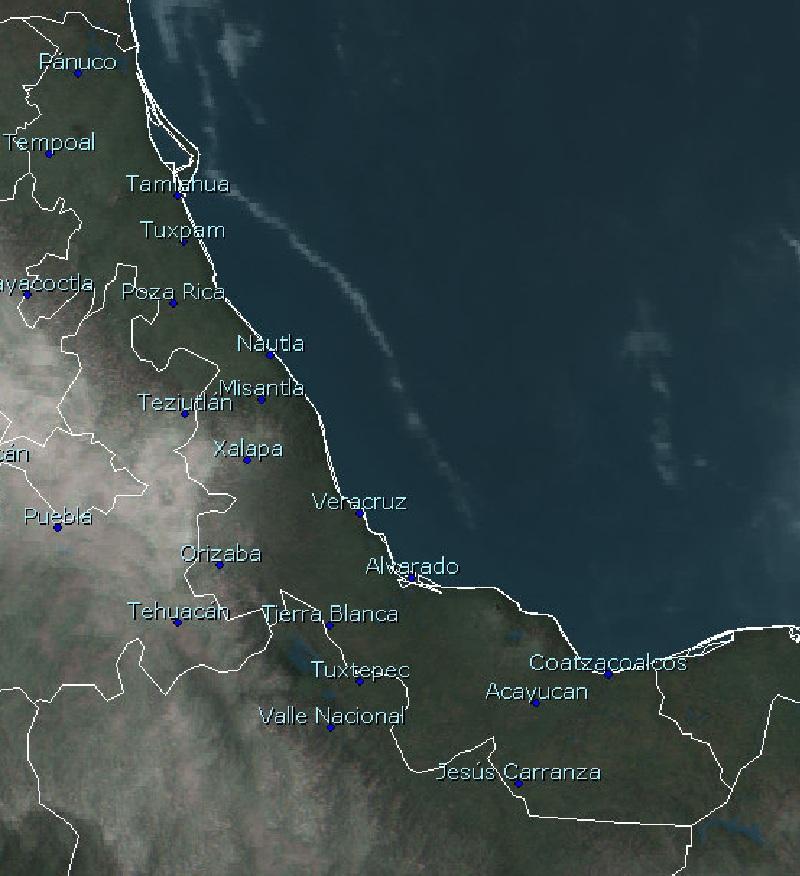 Despejado a medio nublado gran parte de la entidad Veracruzana