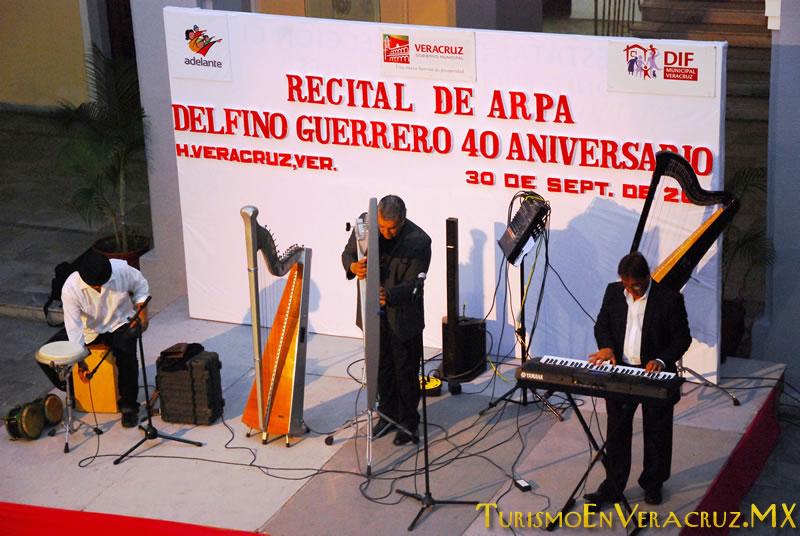 Presenta Ayuntamiento de Veracruz excelso recital de arpa en el Museo de la Ciudad