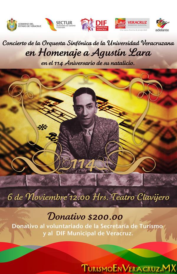 Realizarán gobiernos municipal y estatal homenaje a Agustín Lara
