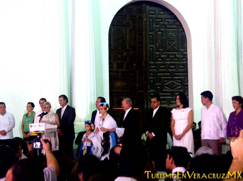 Inaugura Javier Duarte primera etapa de la rehabilitación de la Catedral de Veracruz