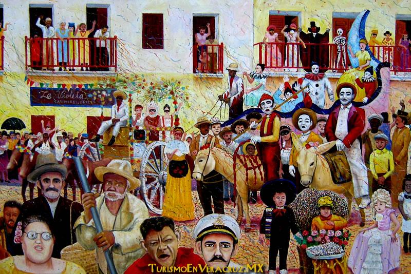 Muestra Secturc Cinco Momentos Históricos del Carnaval de Veracruz