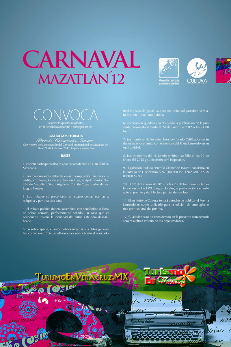 Convoca Secturc a poetas del estado a participar en el concurso Clemencia Isaura