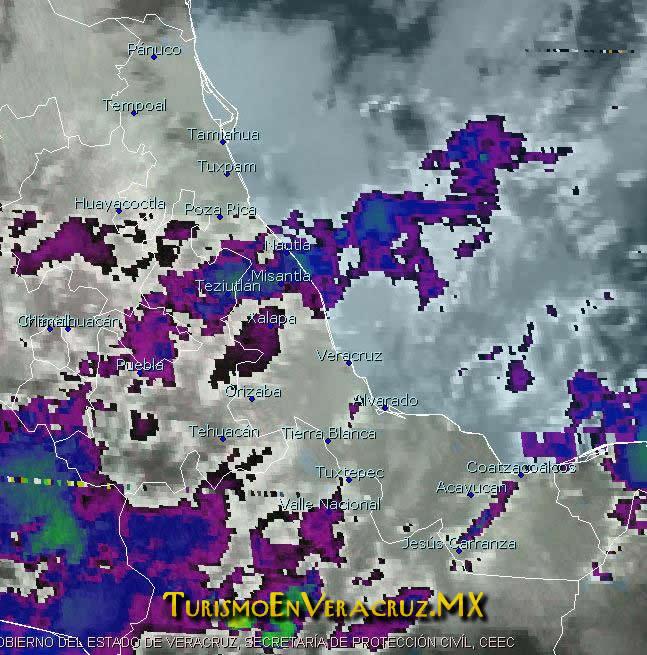 Se esperan nublados y lluvias aisladas en la entidad Veracruzana: SPC