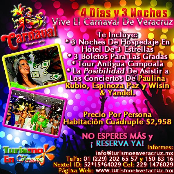 4 Días y 3 Noches En El Carnaval De Veracruz 2012