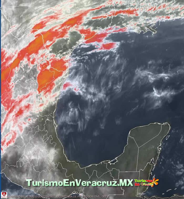 Temperaturas altas, surada y norte para hoy y mañana en el estado de Veracruz