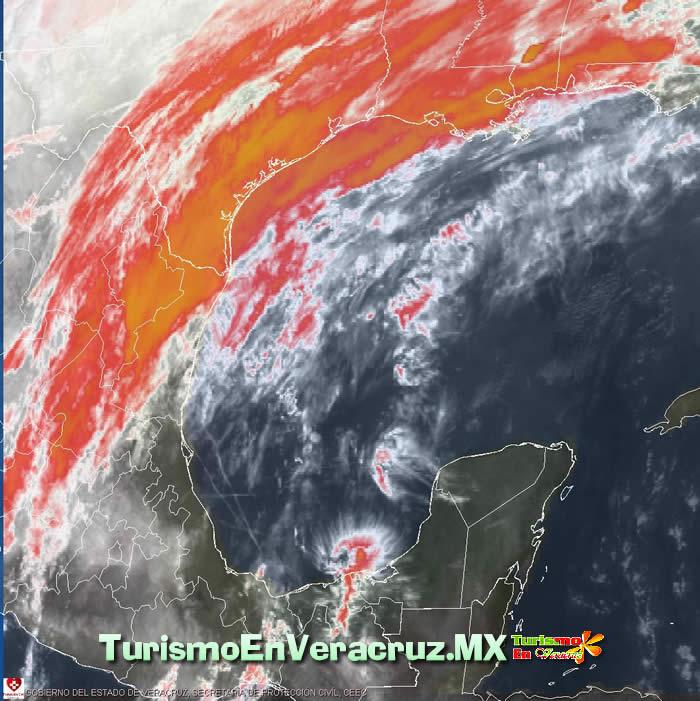 Entra hoy frente frío 36 al Estado de Veracruz