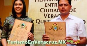Firman acuerdo de hermanamiento las ciudades de Veracruz y Quetzaltenango, Guatemala