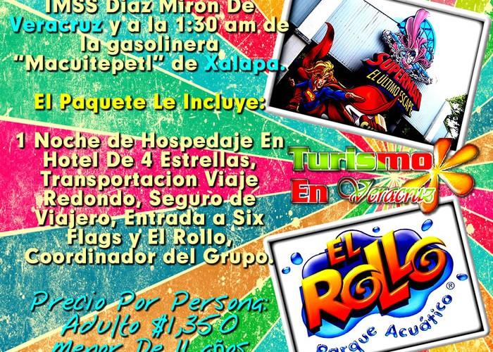Vamos a Six Flags y El Rollo Este 13 De Julio 2012 Saliendo De Veracruz y Xalapa