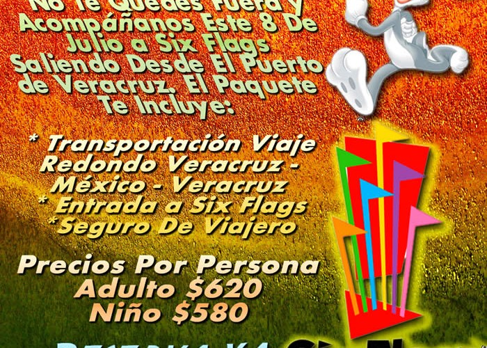 Vamos a Six Flags Este 8 De Julio De 2012