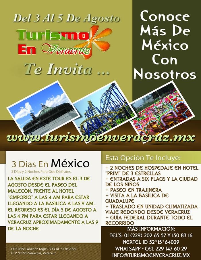 3 Días y 2 Noches Conociendo La Ciudad de México Saliendo De La Ciudad de Veracruz