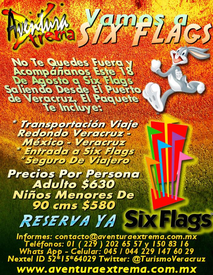 Vamos a Six Flags Este 18 De Agosto