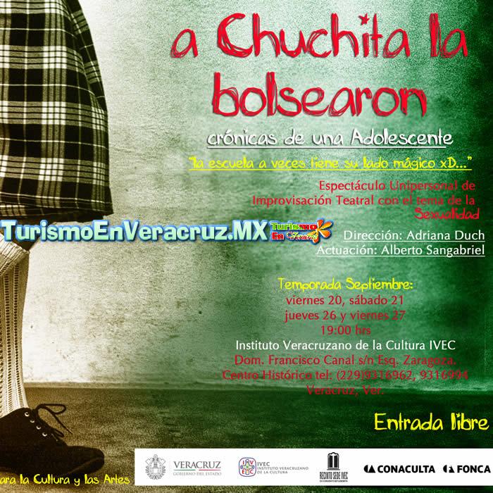 Invita IVEC al estreno teatral A Chuchita la bolsearon: crónicas de una adolescente