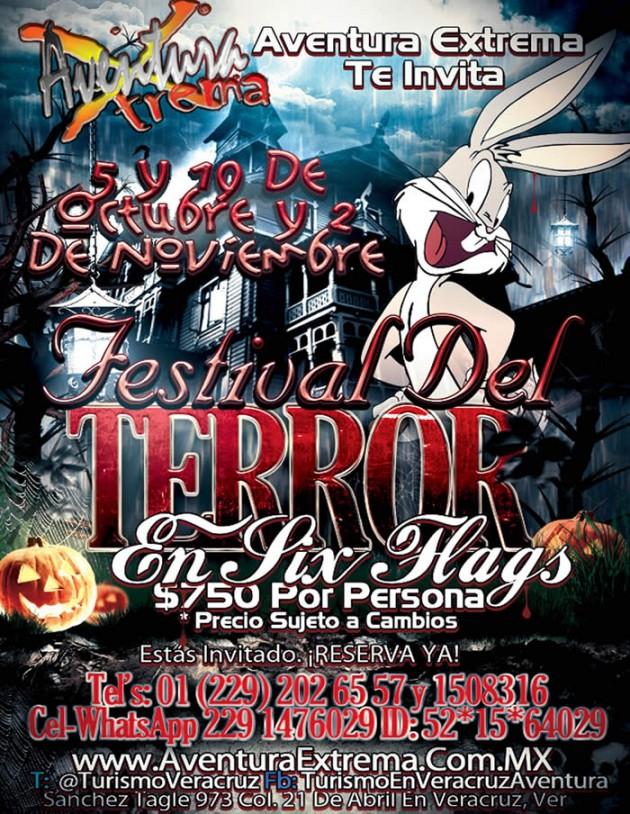 Excursi�n Al Festival Del Terror De Six Flags Saliendo De Veracruz Boca del R�o Cardel y Xalapa