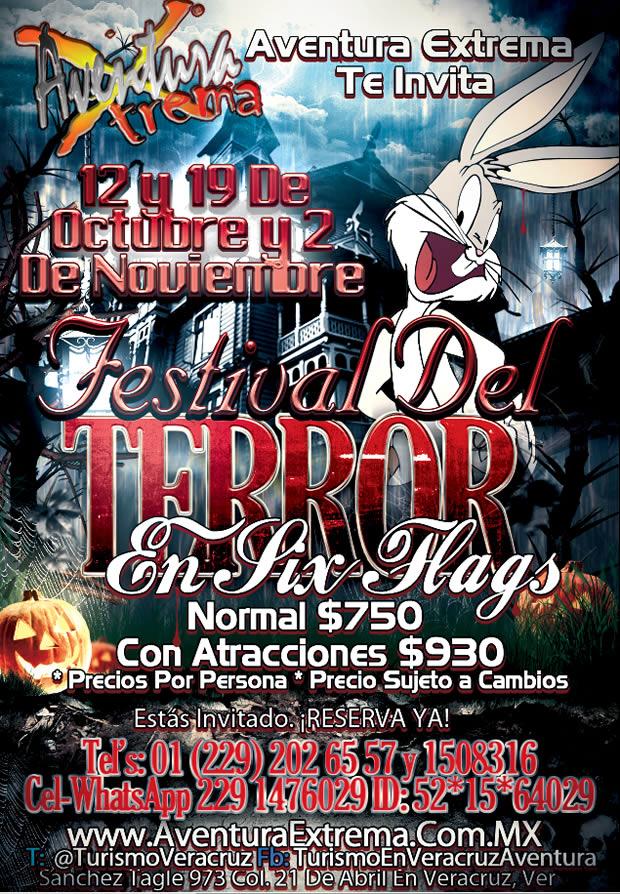 El Festival Del Terror De Six Flags Te Espera En Six Flags Saliendo De Veracruz y Xalapa