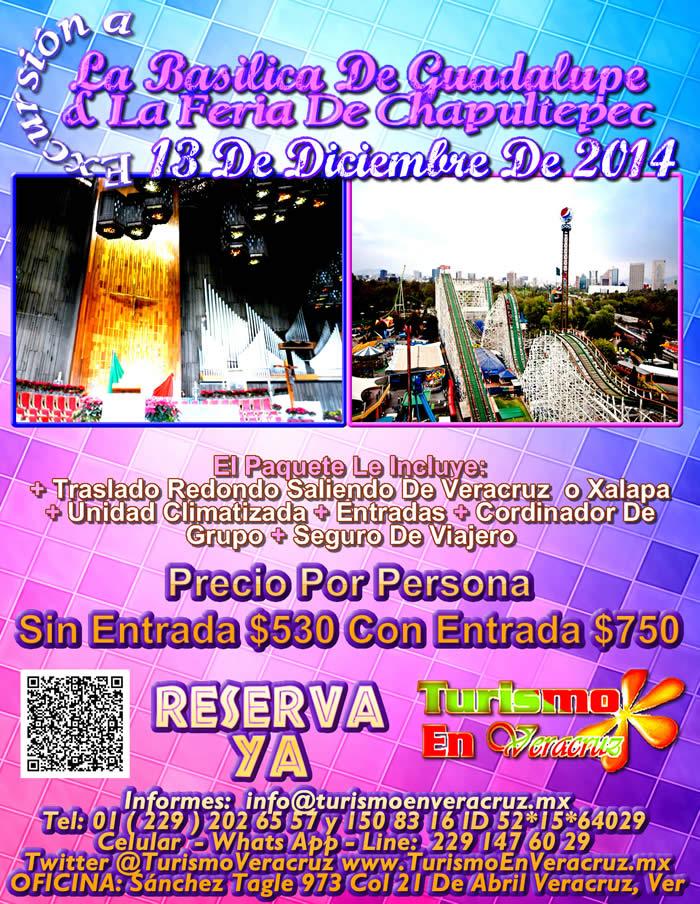 La Basílica De Guadalupe y La Feria De Chapultepec Te Esperan Este 13 De Diciembre Saliendo De Veracruz y Xalapa