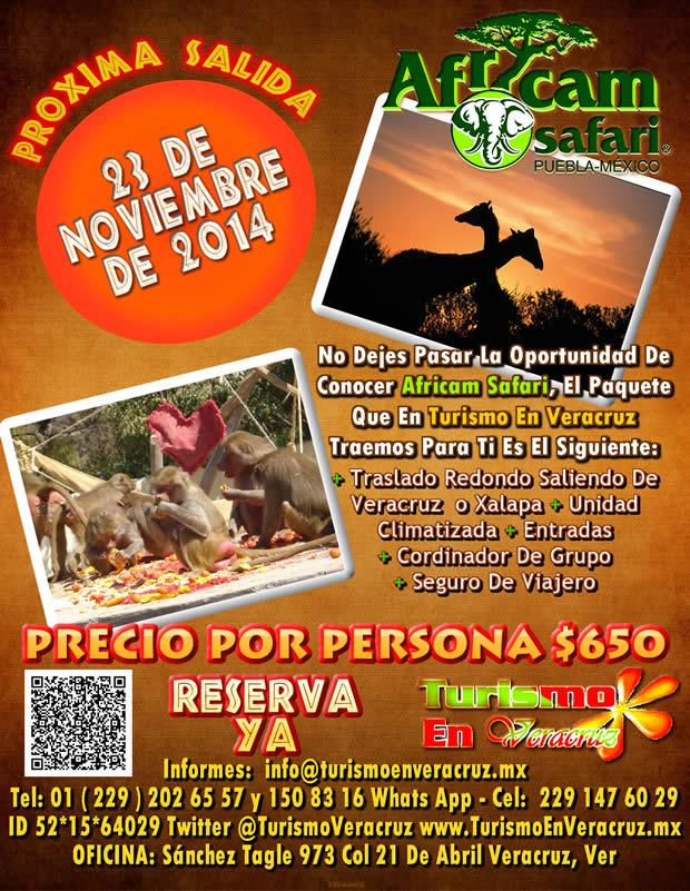 Vamos a Africam Safari Este 23 De Noviembre Saliendo De Veracruz, Cardel y Xalapa