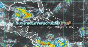 Lluvias fuertes en regiones de montaña y menores en el resto de la entidad Veracruzana