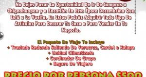 Vamos De Compras a Chignahuapan  y  Zacatlán Este 9 De Noviembre.