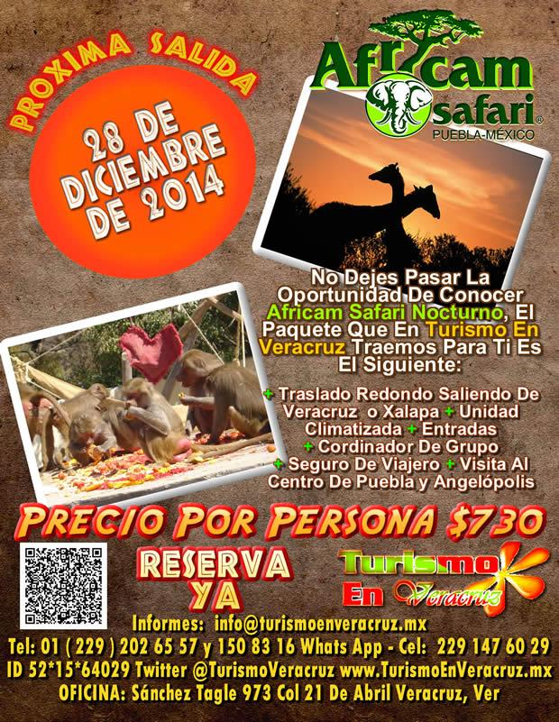 Excursión a Africam Safari Nocturno Este 28 De Diciembre Saliendo De Veracruz y Xalapa