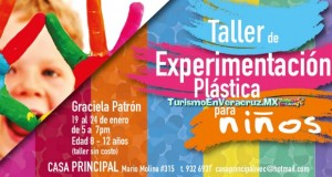 Taller de Experimentación Plástica para niñas y niños, en Casa Principal del IVEC