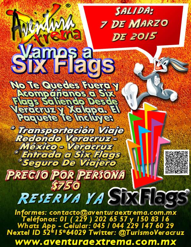 Salida a Six Flags Este 7 De Marzo Saliendo De Veracruz, Cardel y Xalapa