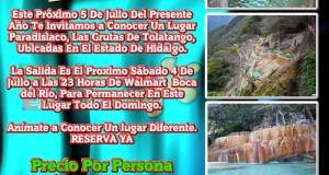 #Excursión En Octubre a Las Grutas De #Tolantongo #Hidalgo