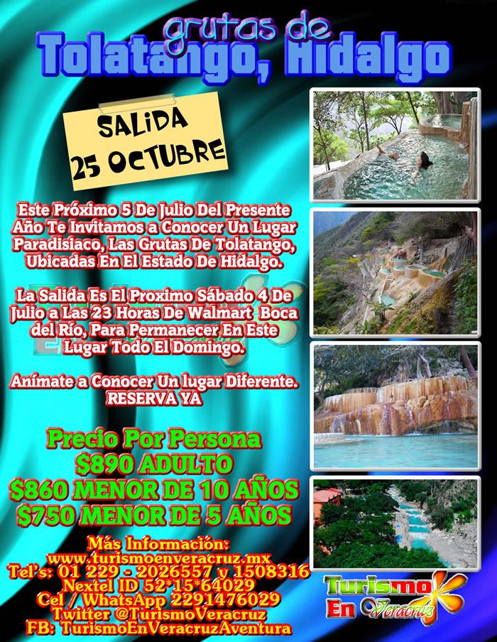 #Excursión En Octubre a Las Grutas De #Tolatango #Hidlago