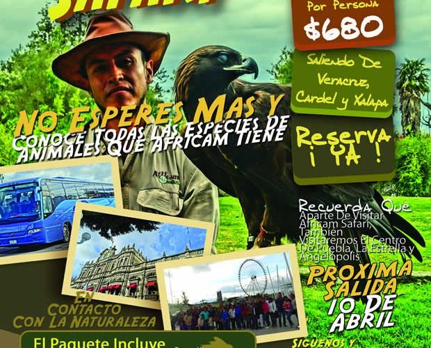 #Excursión a #AfricamSafari Este 10 De Abril Saliendo De #Veracruz y #Xalapa