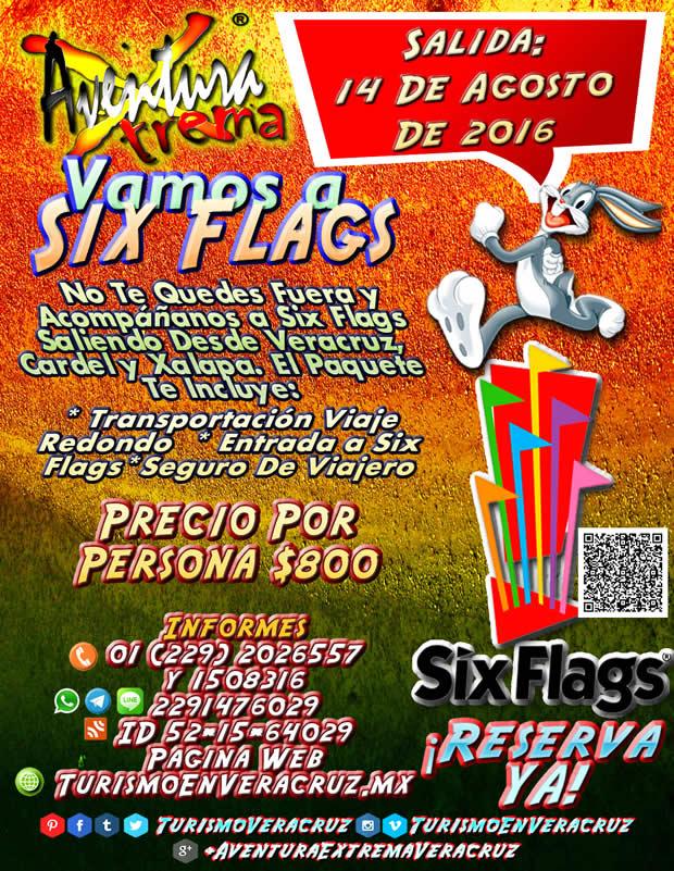 #Excursión a #SixFlags Este 14 de Agosto Saliendo De #Veracruz y #Xalapa