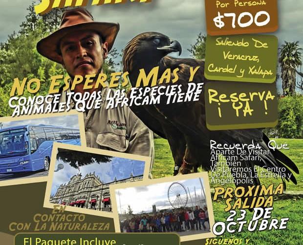 #Excursión a #AfricamSafari Este 23 De Octubre Saliendo De #Veracruz y #Xalapa