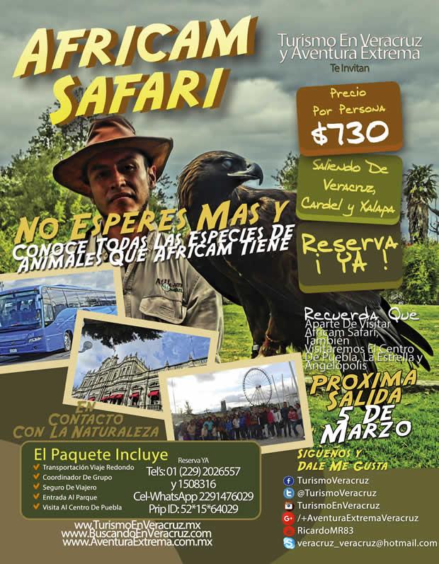 Excursión a Africam Safari Saliendo de Boca del Río, Veracruz, Cardel y Xalapa