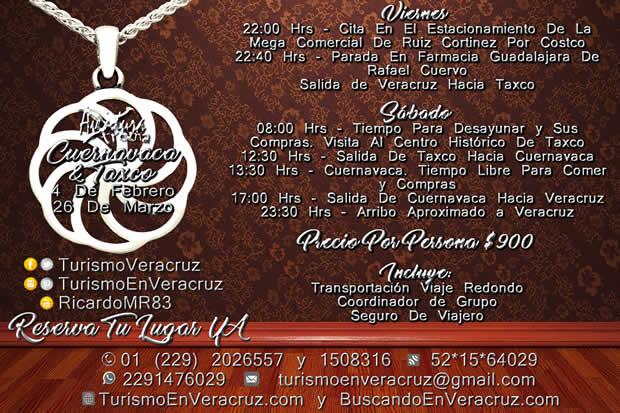 Excursión a Cuernavaca y Taxco Con Transportación Saliendo de Veracruz y Boca del Río