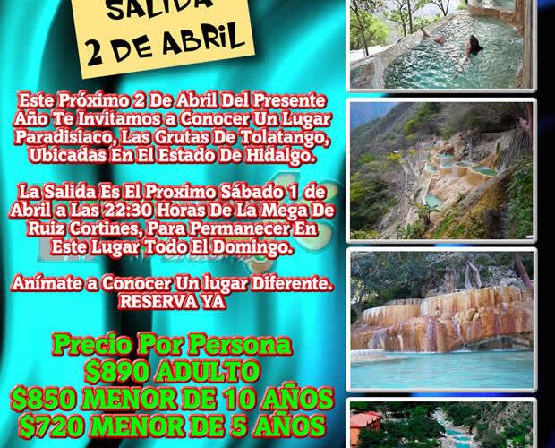 #Excursión En Abril De 2017 a Las Grutas De #Tolantongo #Hidalgo