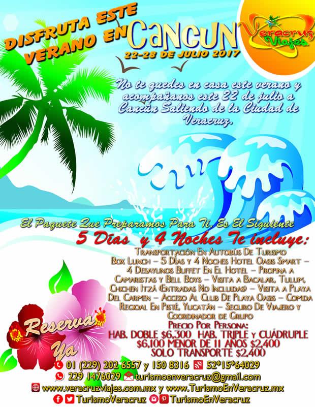 Excursión a Cancún Con Hospedaje y Transportación Saliendo de Veracruz y Boca del Río