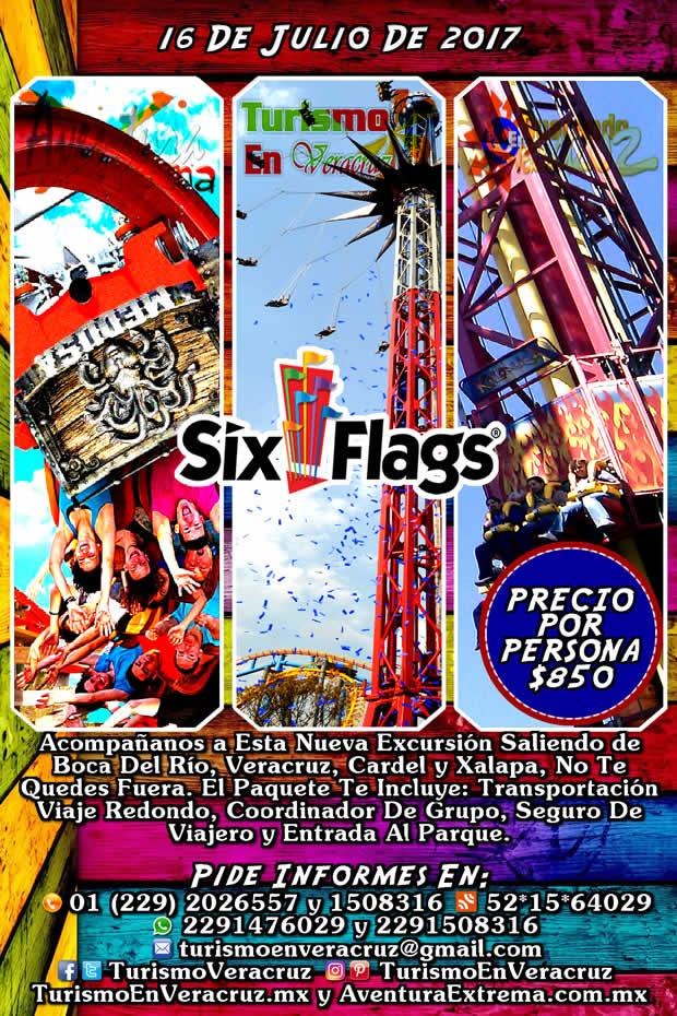 Excursión a Six Flags Saliendo de Boca del Río, Veracruz, Cardel y Xalapa