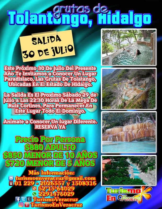 Excursión a Tolantongo Saliendo de Veracruz, Cardel y Xalapa