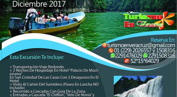 3 Días y 2 Noches En #Chiapas Saliendo de Veracruz Este 15 De Diciembre 2017