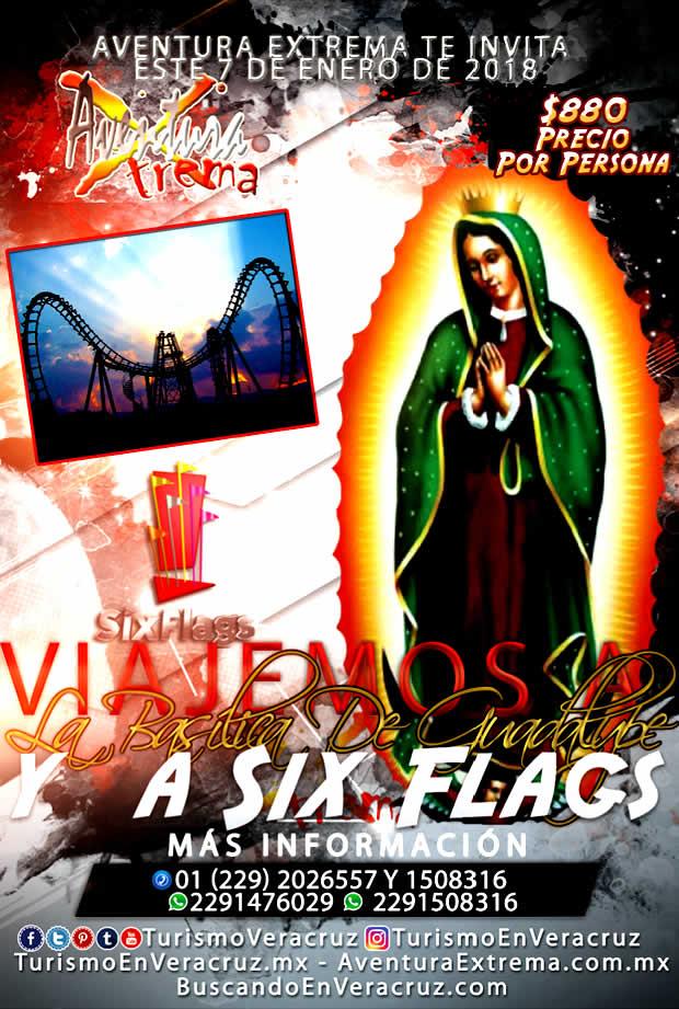 Basílica de Guadalupe y Six Flags Christmas In The Park - Veracruz Cardel y Xalapa