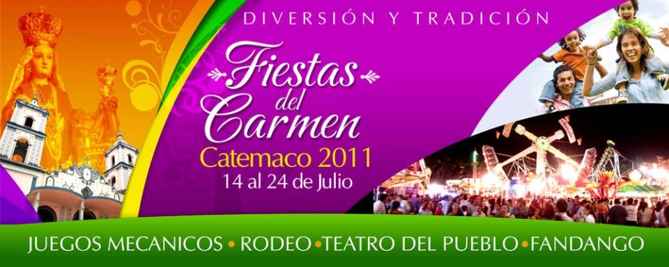 """Programa De Festejos De """"La Virgen Del Carmen"""" En Catemaco"""