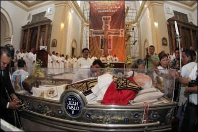 Llegan Reliquias de Juan Pablo II al Puerto de Veracruz