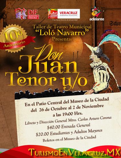 """Ayuntamiento de Veracruz recibe a """"Don Juan Tenor y/o"""" en el Museo de la Ciudad"""