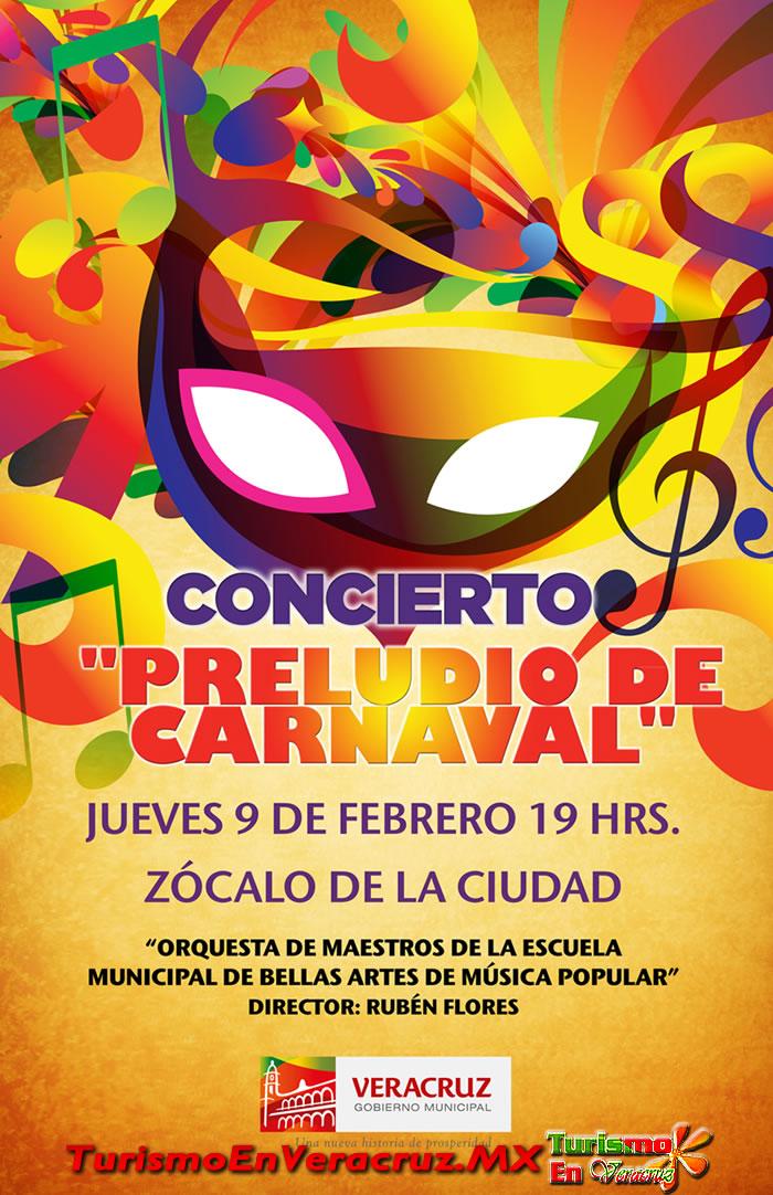 """Promueve Ayuntamiento de Veracruz concierto titulado """"Preludio de Carnaval"""""""