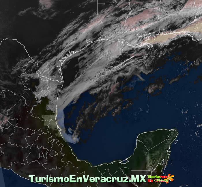 Entra hoy frente frío 38 al Estado de Veracruz