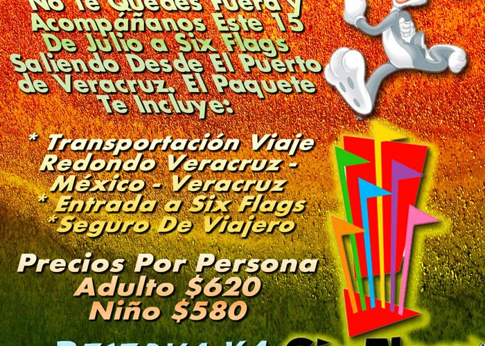 Vamos a Six Flags Este 15 De Julio De 2012