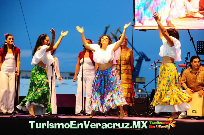 Macro Plaza del Puerto de Veracruz, escenario del gran cierre del 18 Festival Internacional Afrocaribeño 2012
