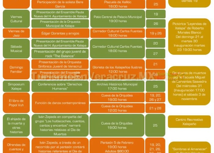 Agenda De Eventos Culturales En Xalapa Octubre 2012