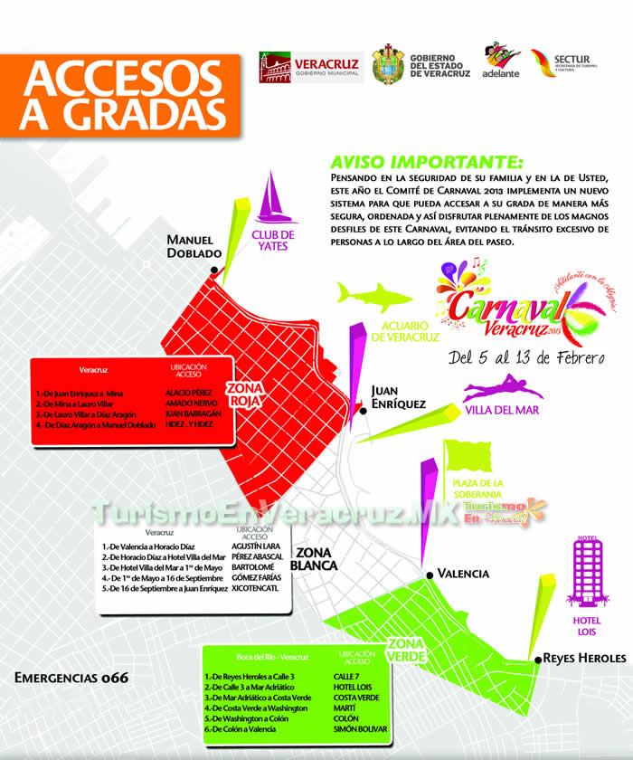 Sistema De Acceso a Las Gradas En El Carnaval De Veracruz 2013