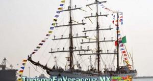 Arriba a Veracruz el Buque Escuela Cuauhtémoc