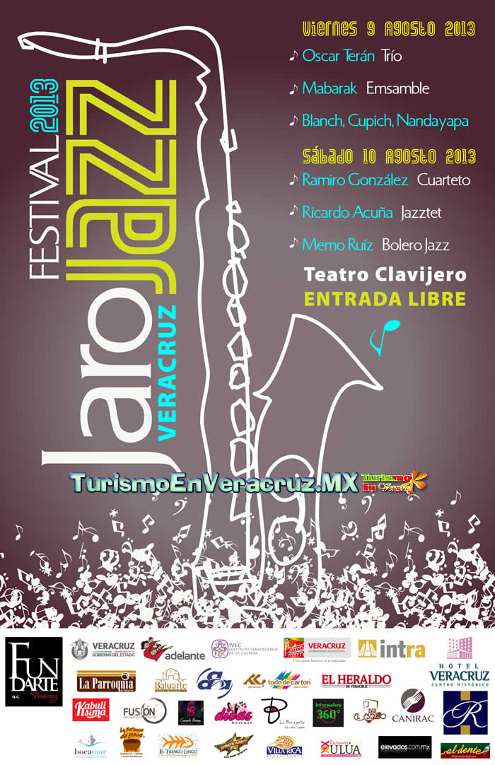 Anuncia Ayuntamiento de Veracruz el primer Festival Jarojazz 2013