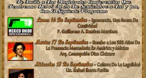 Semana Cultural Mercedaria Del 16 Al 20 De Septiembre